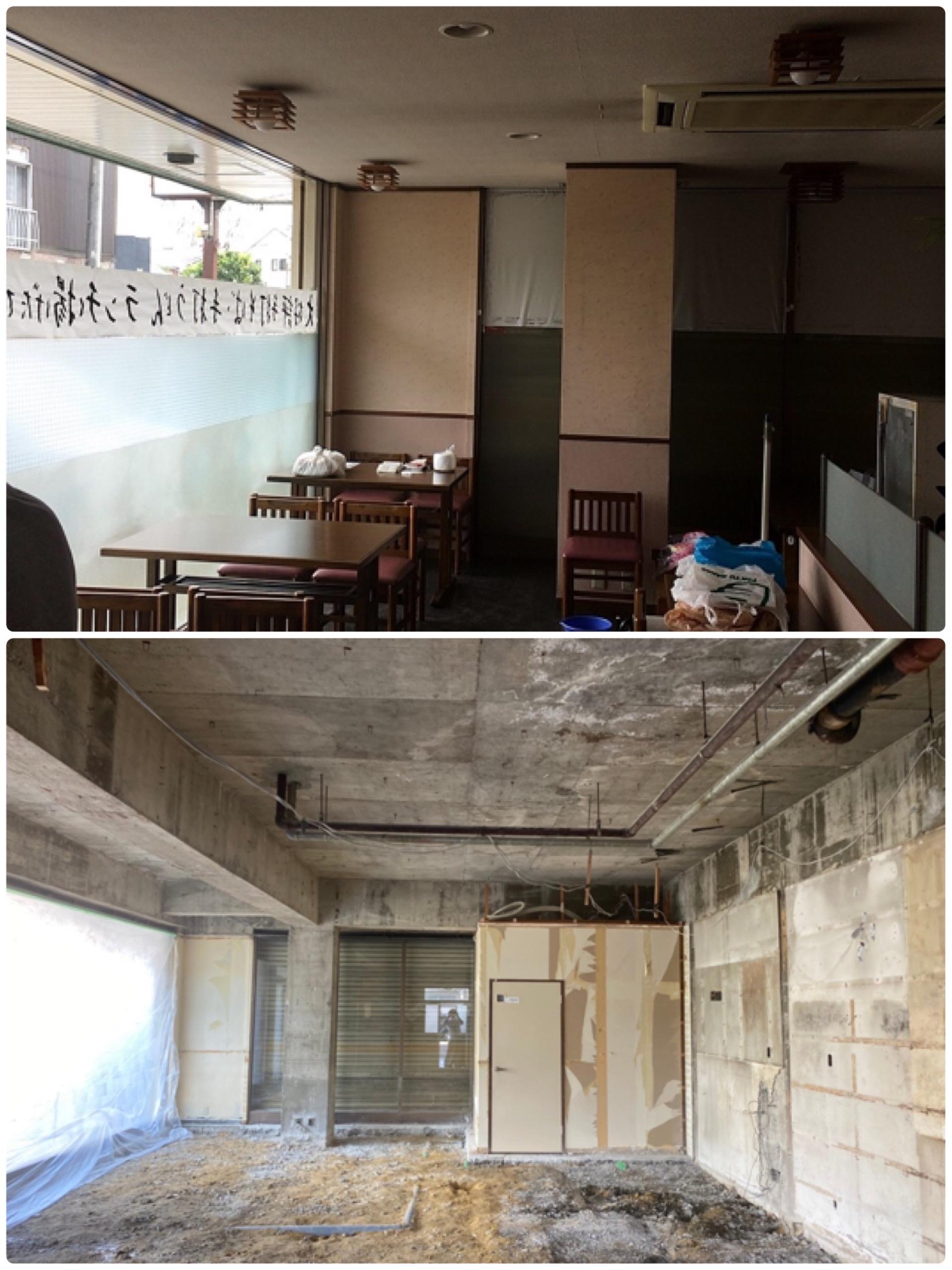 飲食店スケルトン解体工事のアイキャッチ